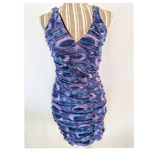 Bebe - stunning rouched bodycon dress